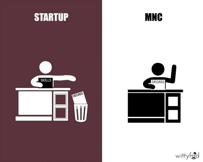 benefits of working in startups than MNCs