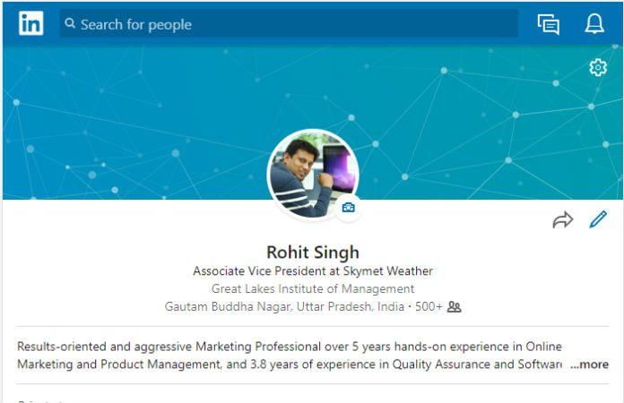 LinkedIn account